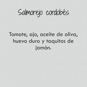 Salmorejo cordobés / 262 cal