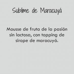 Sublime de Maracuyá / 286 cal